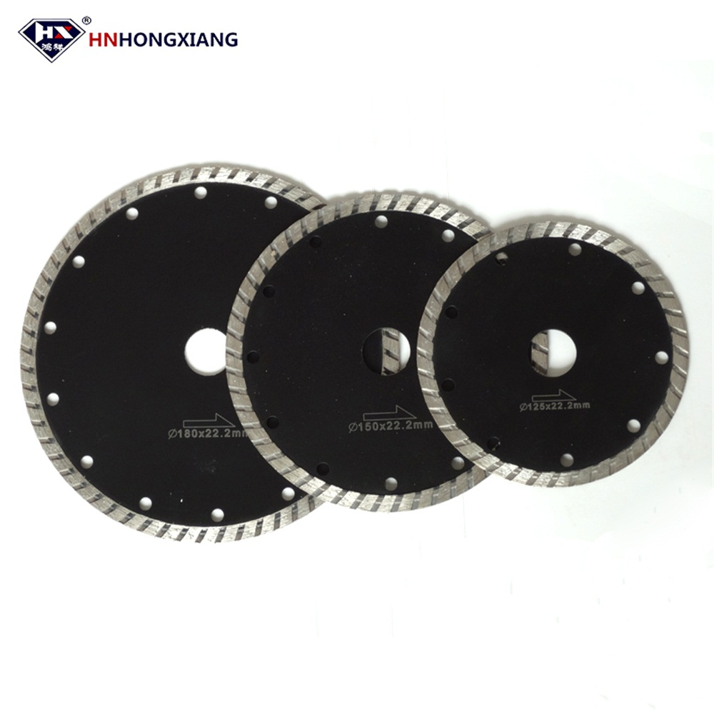 Turbo Rim Diamond Saw Blade for Cutting Tile Stone and Masonry